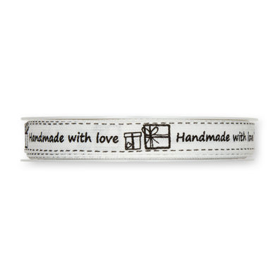 Lint Handmade with love Wit/Zwart