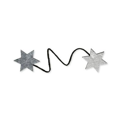 Star wire clasp Licht Grijs/Zilver