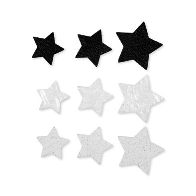 Foam assortiment Sterretjes Zwart/Wit