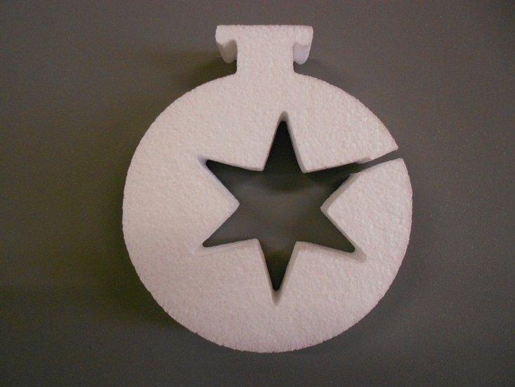 Kerstbal met 1 ster uitsparing, verschillende afmetingen