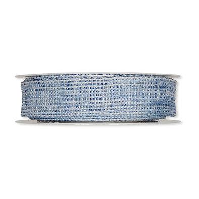 Net structuur lint, Blauw, 2,5cm x 10 meter op rol