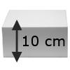 Taart Vierkant, 10 cm hoog