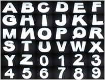 Cijfers & Letters 20 x 5 cm