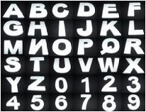 Cijfers & Letters 40 x 4 cm