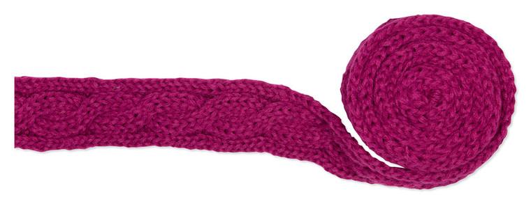 Gebreide sjaal Fuchsia
