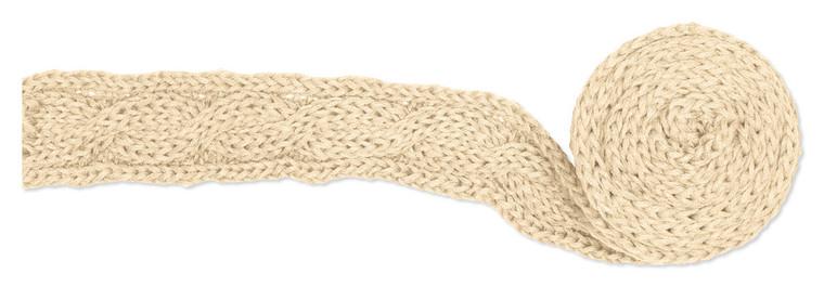 Gebreide sjaal Beige