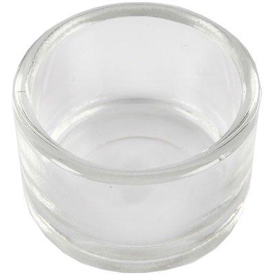 Waxinehouder piepschuim rond compleet met waxineglaasje