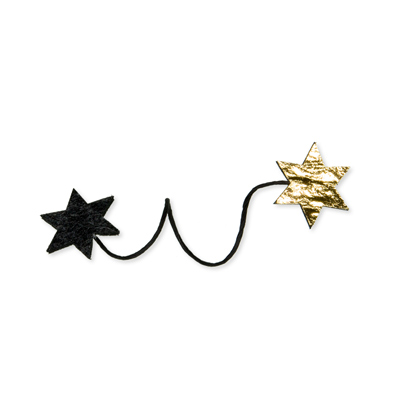 Star wire clasp Donker Grijs/Goud