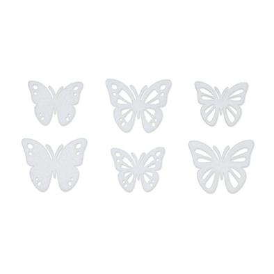 Vilt Vlindertjes, Wit, 36 st. per verpakking