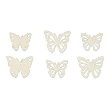 Vilt Vlindertjes, Crème, 36 st. per verpakking