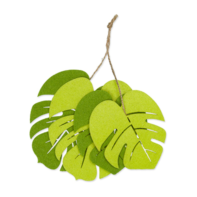 Vilt Bladeren, Lime Groen/Groen, 24 st. per verpakking
