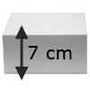 Taartvorm Vierkant, 7 cm hoog