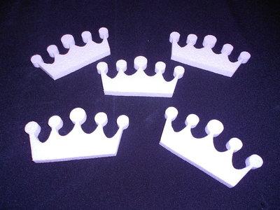 Mini kroontjes afm. 12x6x1 cm set van 5 stuks