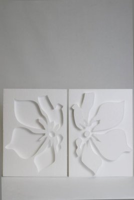 Styropor 2-luik bloemvorm