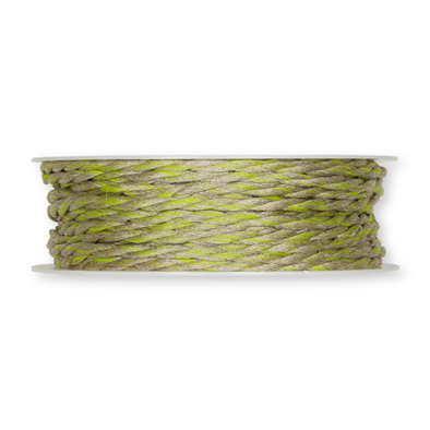 Koord, Linnen/Groen, 4mm x 18 meter