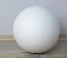 Styropor bal doorsnede 15 cm massief