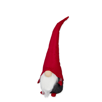 Kerst Kabouter met buigzame muts (Groot 55 cm)