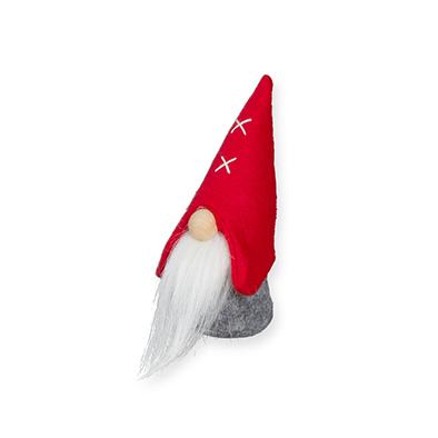 Kerst Kabouter Rood/Grijs 15 cm