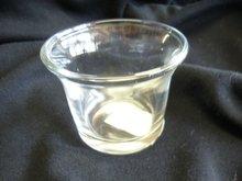 Waxinehouder glaasje, hoogte 4,5 cm, doorsnede 6 cm